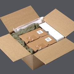 Electronics being shipped with paper packaging from Pregis.