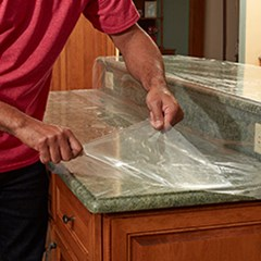 Protective Film For Decorative Laminates And Solid